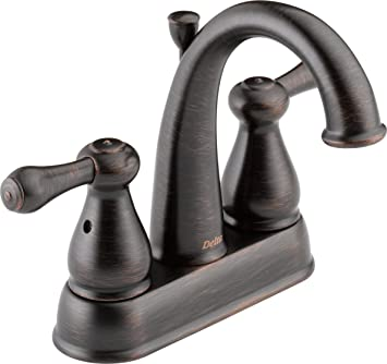 High Quality Delta Faucet 2575LF RBMPU Leland, Two Handle Centerset Bathroom Faucet, Venetian  Bronze