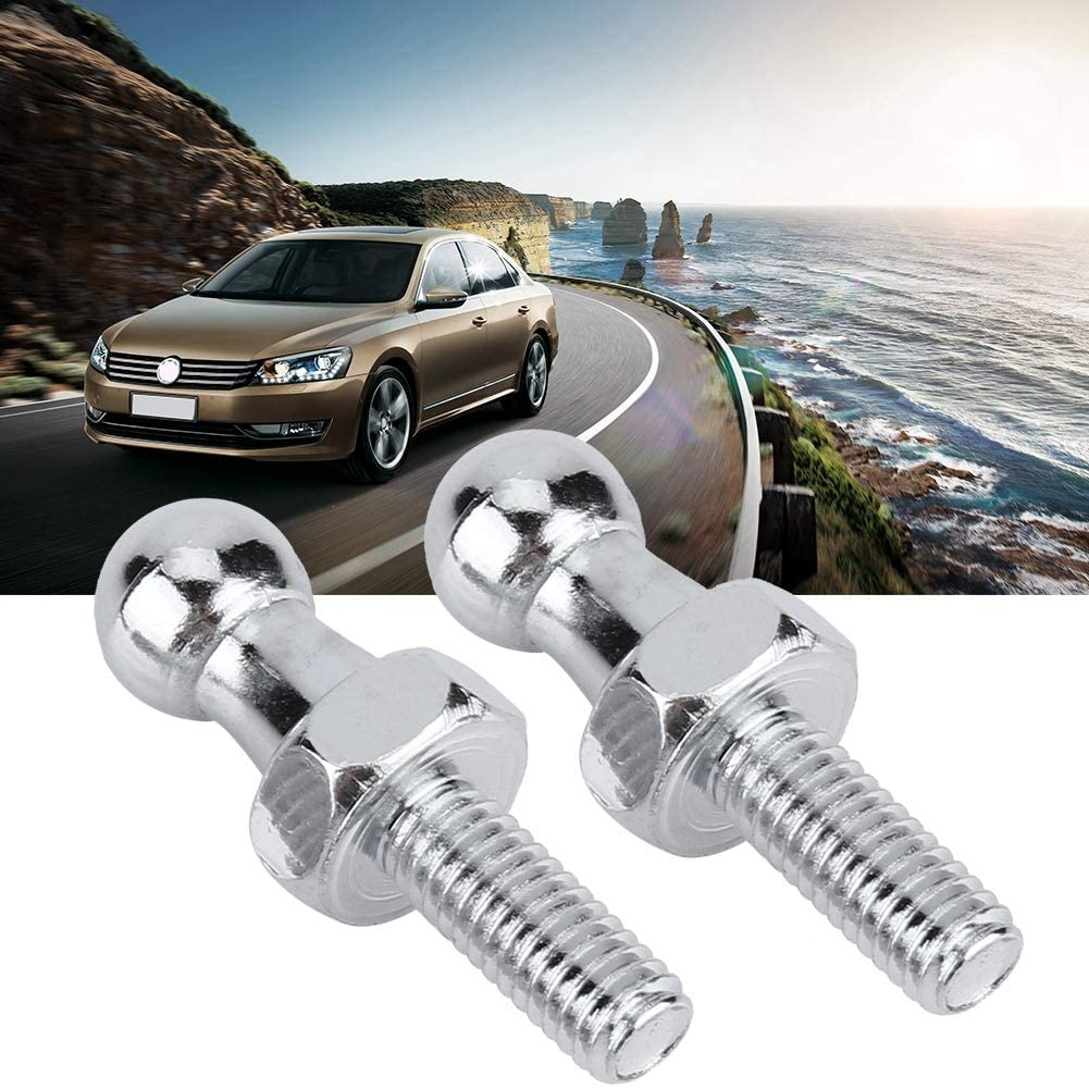 Fydun Ball Stud Bolt 2pcs Zinc Plated Steel 10mm M6 for Gas Struts Ball Ended Bonnet