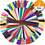 zipper for sewing - Shappy 9 Inch and 12 Inch Zippers Sewing 25 Colors Nylon Coil Colorful Zippers Bulk for Sewing Crafts, 100 Pieces