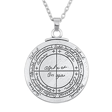Skyrim Wicca Amulet Double Sided Talisman for Good Luck