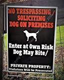 Beware of Dog Sign - World's ONLY LEGAL Beware of Dog Sign - 14 x 10 inch - MADE IN USA - Two Sided - Weatherproof - Long lasting Plastic Material - High Durability in Outdoor use