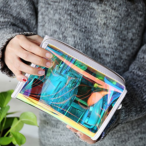 Andear Women's PVC Clear Hologram Transparent Clutch MakeUp Purse Bag for Girls by Andear (Image #4)