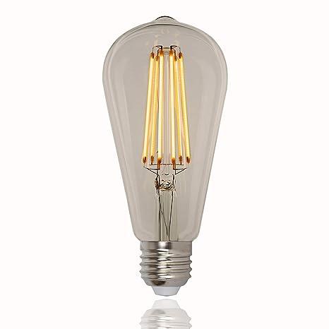 Bombilla de LED Edison, estilo vintage, 60W, con globo tipo jaula
