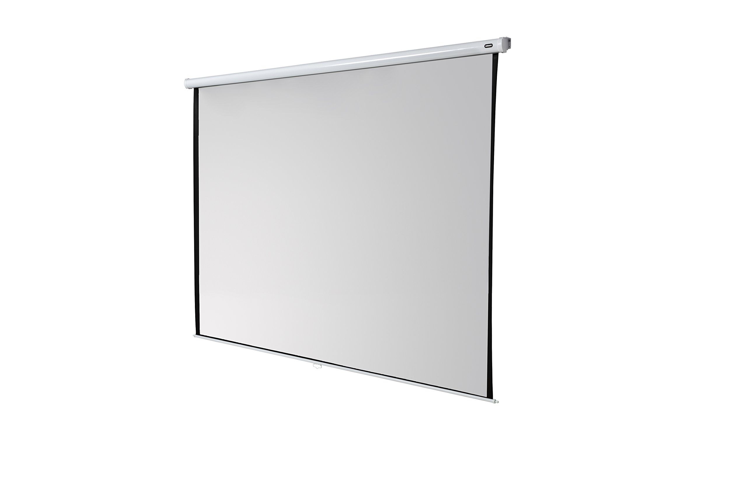 celexon 167'' Manual Economy 118 x 118 inches viewing area | 1:1 format | Manual Pull Down Projector Screen | Wall or ceiling mounting | Gain factor of 1.0 for home cinema & business environments