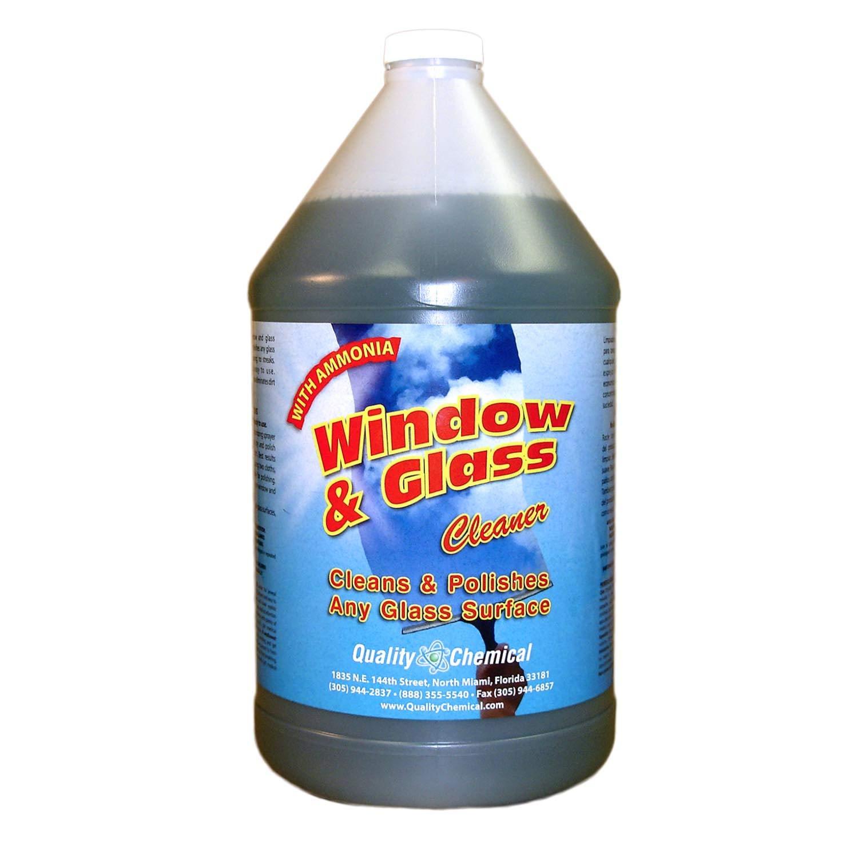 Ammoniaのウィンドウ&ガラスクリーナー。 1 gallon ブルー QCC-141-1 B07KRMJ88V  1 gallon