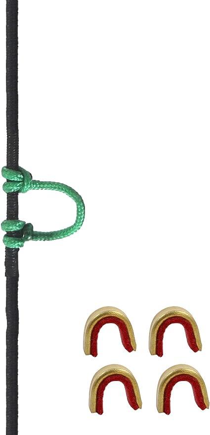Archery D Loop Metal Ring Compound Bow String Arrow Nock U Rope Loop Green