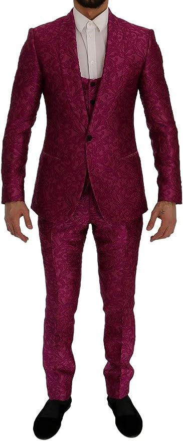 Dolce & Gabbana - Traje de 3 Piezas, Jacquard, Color Rosa ...