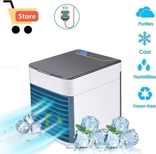 hongdao Aire Acondicionado Portátil USB Mini Enfriador 3 en 1 ...