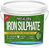 2.5 KG PREMIUM Iron Sulphate (Makes up to 2500L When Diluted & Covers up to 2500m2) Pure Lawn Tonic- Ferrous Sulphate of Iron Lawn Conditioner and Moss Killer. Dry Powder easily soluble in water