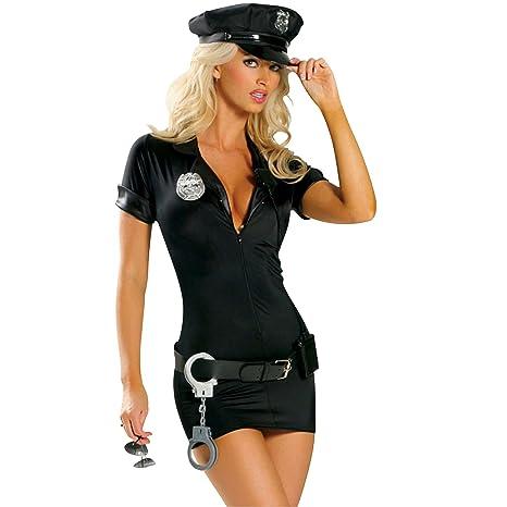 Disfraz sexy de mujer policía vestido policía rol juego ...