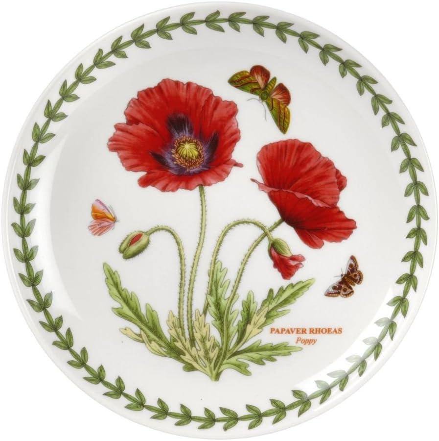 "Portmeirion Botanic Garden Coupe Plate, 6"", 6"", White"
