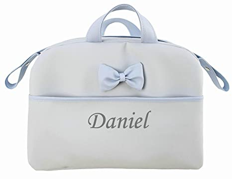 beige Danielstore Personalizado con nombre bordado Bolso polipiel carrito bebe