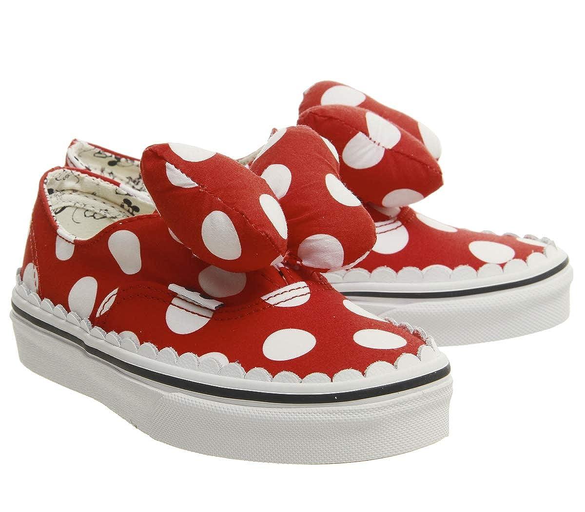 86d83341751b Amazon.com  Vans Authentic Gore Disney Minnie s Bow Skate Shoes Size 12.5  Little Kid  Shoes