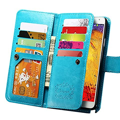 Note 3 Case, Galaxy Note 3 Case, Joopapa Note 3 Wallet Case,Pu Leather Case Magnet Wallet Credit Card Holder Flip Cover Case Built-in 9 Card Slots & Stand Case for Samsung Galaxy Note 3 N9000 (Galaxy 3 Phone Cases Flip Cover)