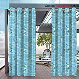 DESPKON The Shade Block Ultraviolet Carto Like Seahorses for Kids Nursery Baby Girls Boys Childish Playroom Nautilus Suitable for Outdoor、Open-air Wedding W96 x L84 INCH
