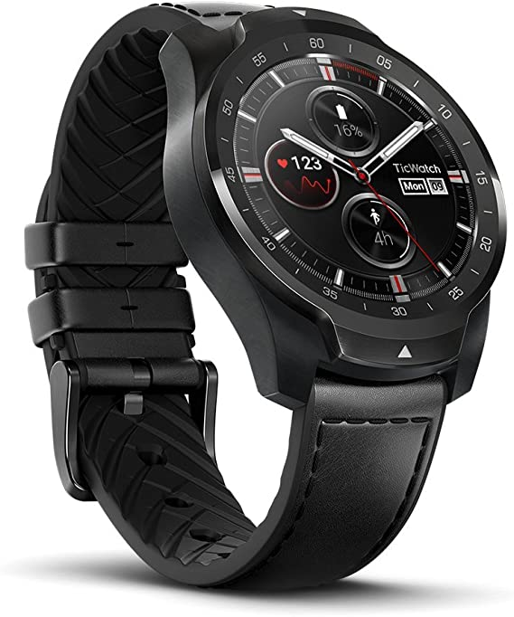 Ticwatch Pro Premium Smartwatch with Layered Display for Long Battery Life, NFC Payment and GPS Build-in, Sleep Tracking, Wear OS by Google, ...
