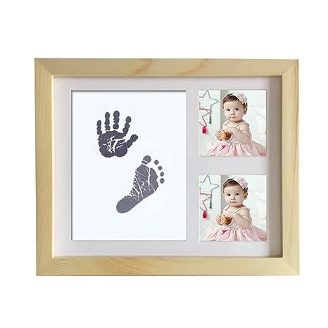 Kit de huellas para bebé y marco de fotos para recién nacido, regalo ...