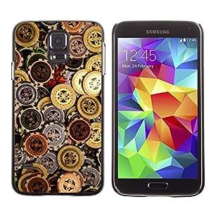 SAMSUNG Galaxy S5 V / i9600 / SM-G900 , Radio-Star - Cáscara Funda Case Caso De Plástico (Casino Chips Money)