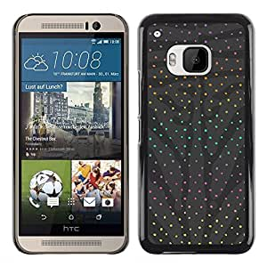 Exotic-Star ( Dot Grey Abstract Rainbow Pattern ) Fundas Cover Cubre Hard Case Cover para HTC One M9