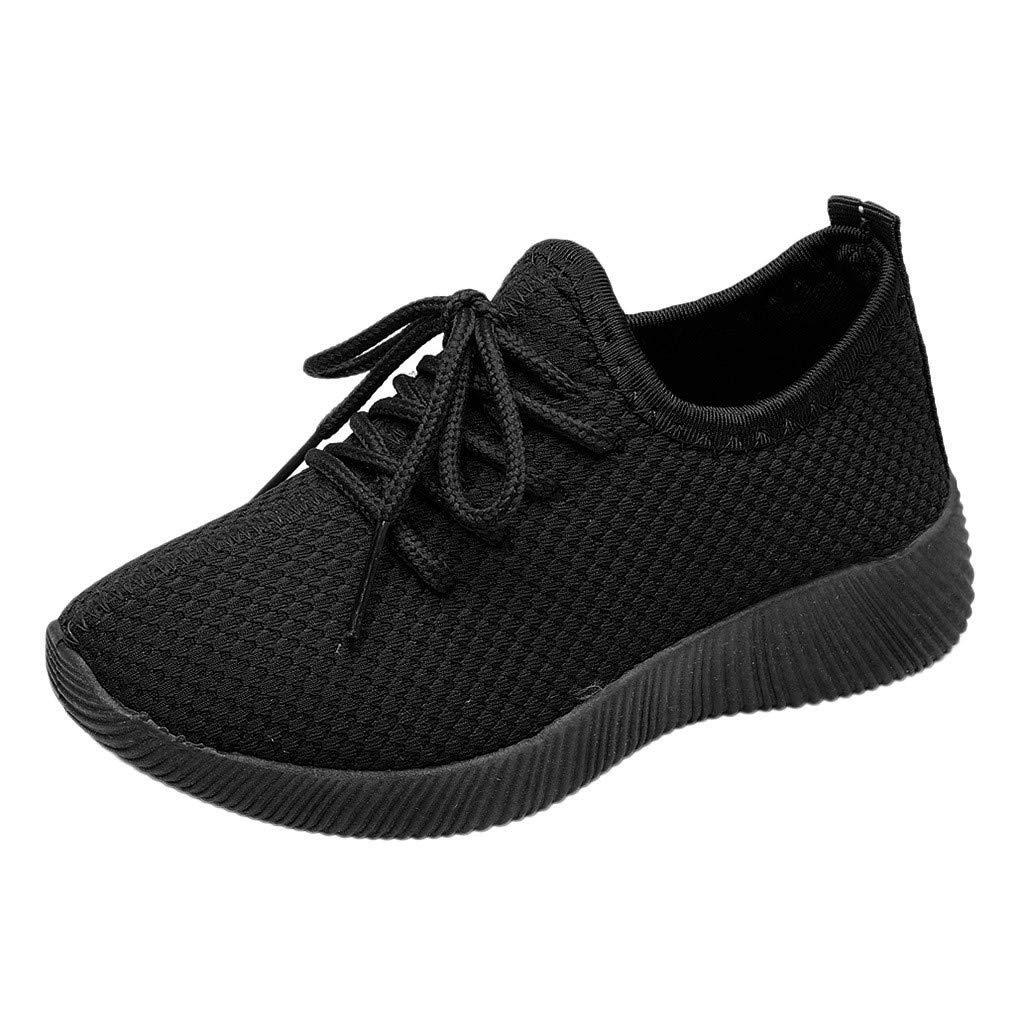 Anxinke Kids Boys Girls Breathable Walking Shoes Soft Lightweight Mesh Sneakers (8.5 M US Toddler, Black) by Anxinke