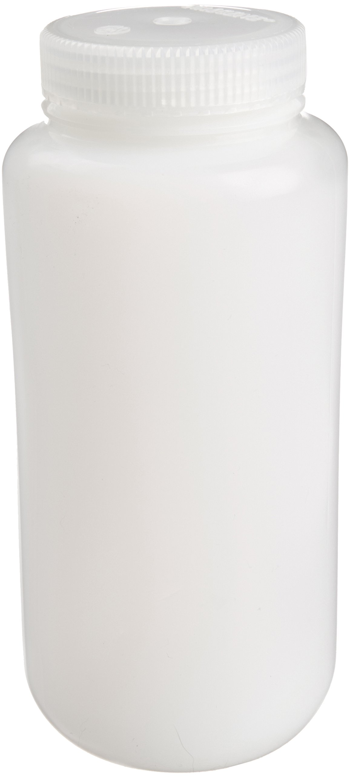 Nalgene 2197-0032 FEP Wide Mouth Bottles with Fluorinated Polypropylene Screw Closures, 1000ml Capacity (Case of 24)