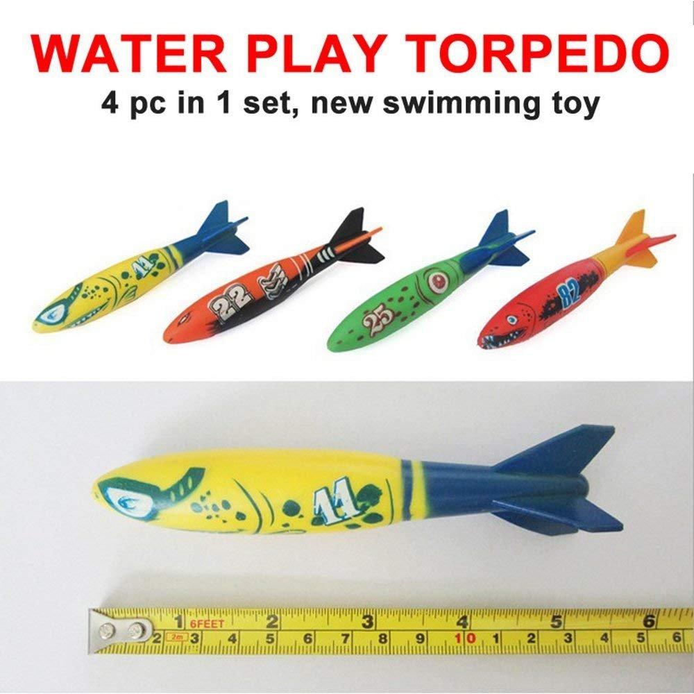 Isuper Juguetes Submarinos de Buceo,Torpedo Bandits Piscina Buceo de Plástico Juego de Verano Juego para Piscina y Bucear 4pcs: Amazon.es: Juguetes y juegos
