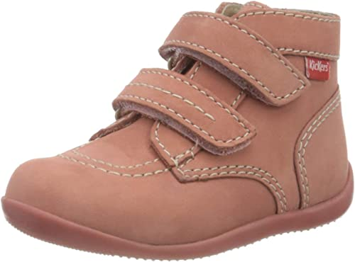 Kickers Boys 694550-30-10 Slouch Boots, Pink (Rose Metal 133), 2 UK: Amazon.co.uk: Shoes & Bags
