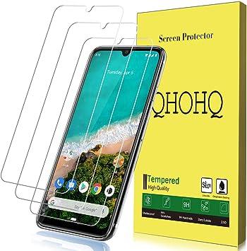 QHOHQ Protector de Pantalla para Xiaomi Mi A3, [3 Unidades] Cristal Templado Screen Protector 9H [Versión Mejorada] para Xiaomi Mi A3: Amazon.es: Electrónica