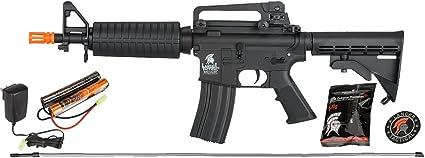 UKARMS Lancer Tactical M4 KEYMOD AEG Field Metal Gears Airsoft Gun Rifle w//9.6v