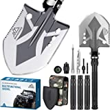 BANORES Folding Shovel, Camping Shovel Lengthened Handle and Larger Thicker Shovelhead Survival Shovel Multitool with…