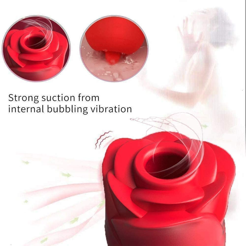 Rose Red Ne w 2 in 1 Upgraded Rechargeable Rose Toy for Women,Women Rose Flower Toys with 7 Gears.2021