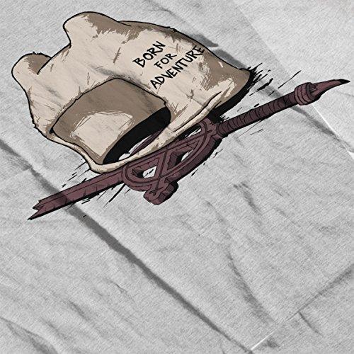 Born For Time Heather Finn Human The Men's Adventure Jacket Grey white Varsity wTOfRT