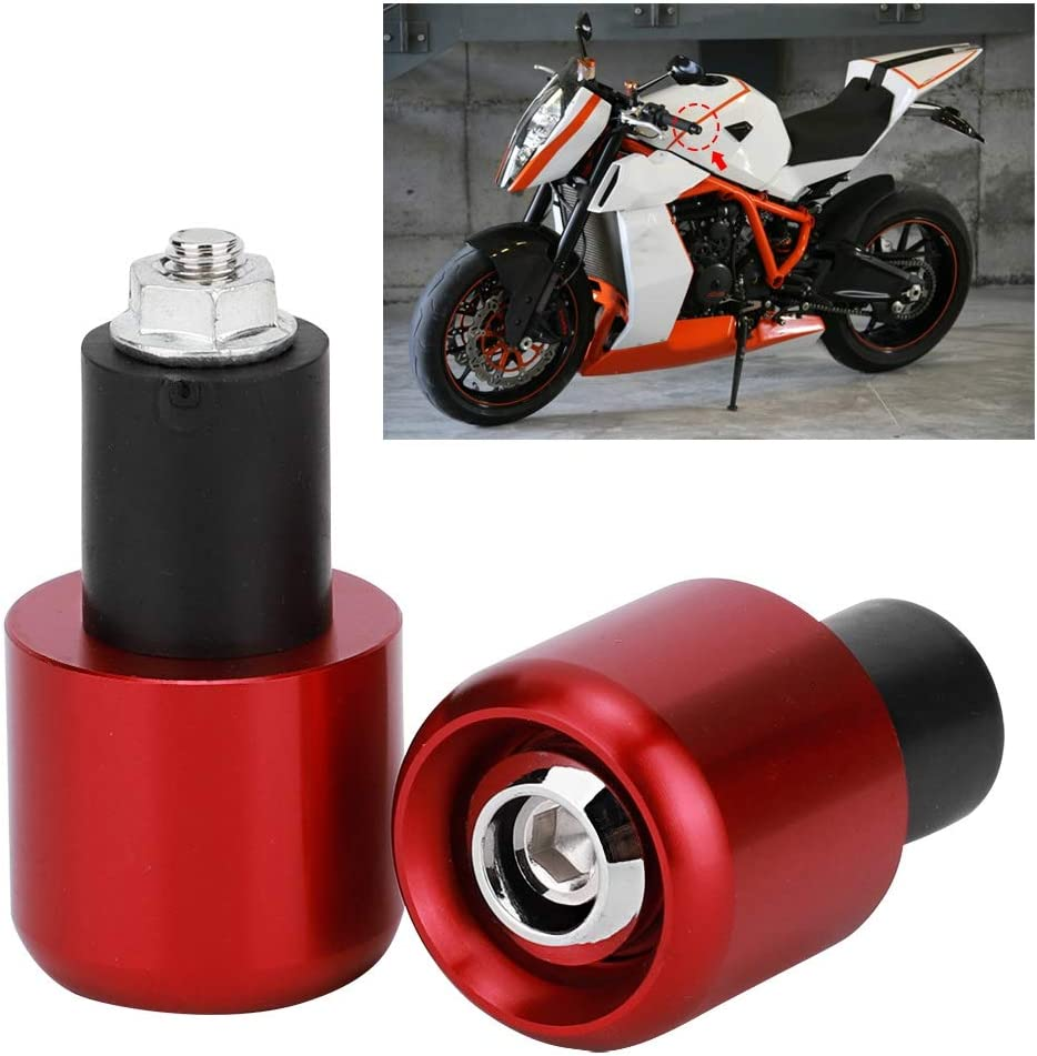 2Pcs Moto Modification Accessoire Guidon End Plug pour guidon de 22 mm de diam/ètre Duokon Embout de guidon Orange