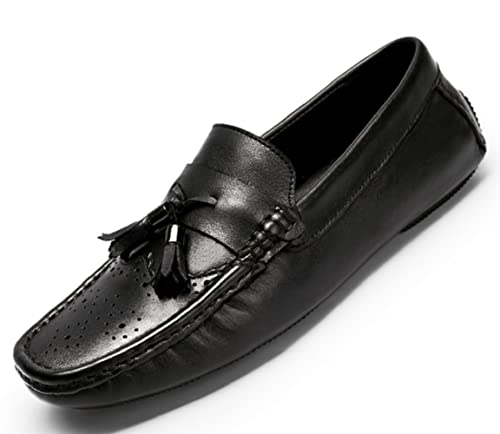 Classic Business Men's Shoes Tassels Moccasin Slip-On Cow Leather Driving Shoes Loafers