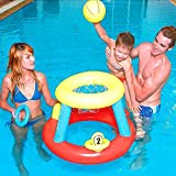 Pink Lizard Floating Hoops Swimming Pool Basketball Game Outdoor Inflatable Toy