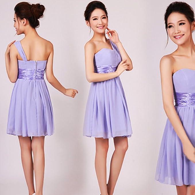 Fashion Elegante corto de mujer gasa de vestidos de novia a virgenes ropa bonita Sexy ropa