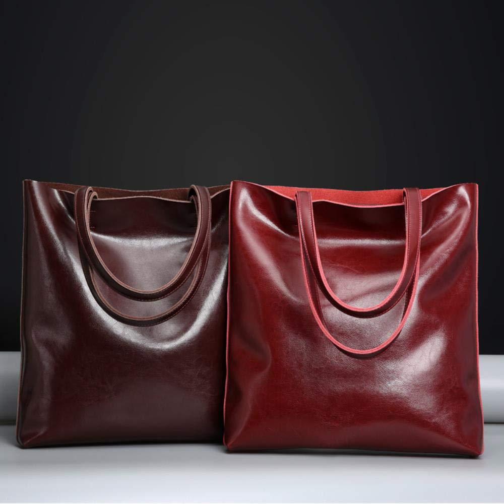 TicMick Leder Damen Tasche Damen Handtasche Schultertasche Damen Messenger Bag Umhängetaschen für Damen ToteS Burgund