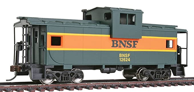 Walthers Trainline Wide Vision Caboose with Metal Wheels Ready to Run BNSF
