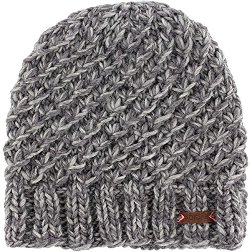 adidas Womens Whittier Beanie, Deepest Space - Grey Marl/Tactile Rose, One Size