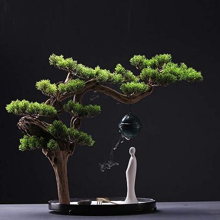 Laogg Jardin Zen Estilo Chino Mesa de Arena Seca de montaña Micro Paisaje Figura Zen Decoración Ceremonia del té Adornos: Amazon.es: Hogar