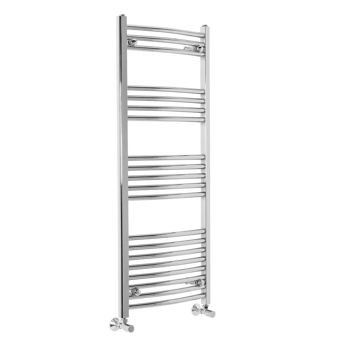 Contemporary Curved Heated Towel Rail Radiator 700 x 400 White WarmeHaus