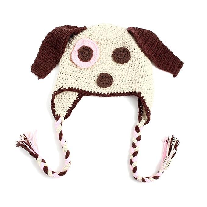 Amazoncom Imleck Unisex Newborn Baby Puppy Modeling Wool Knit Hat