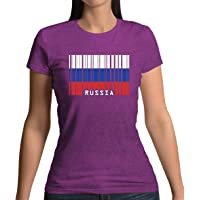 Russia Barcode Style Flag - Womens T-Shirt - 13 Colours