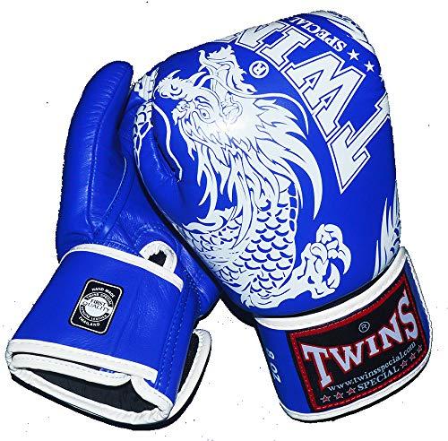 TWINS本革ボクシンググローブGRTW3285 ドラゴン4 青 B07G897GR8  16oz