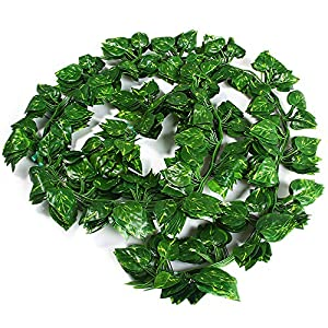 Coopts 12 PCS 79 Ft Artificial Plant Rattan Ivy Greenery Garland Leaves Hanging Plants Wedding Party Garden Office Wall Decoration (80pcs Leaves per Vine) 33