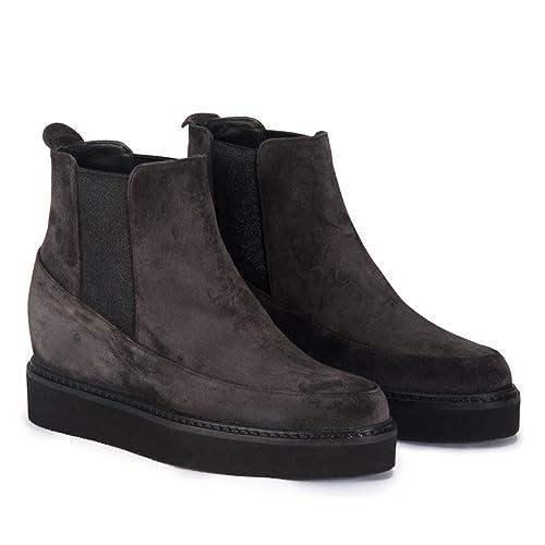Homers 18294 Crosta Asphalt - Botines Mujer - Gris, 38: Amazon.es: Zapatos y complementos
