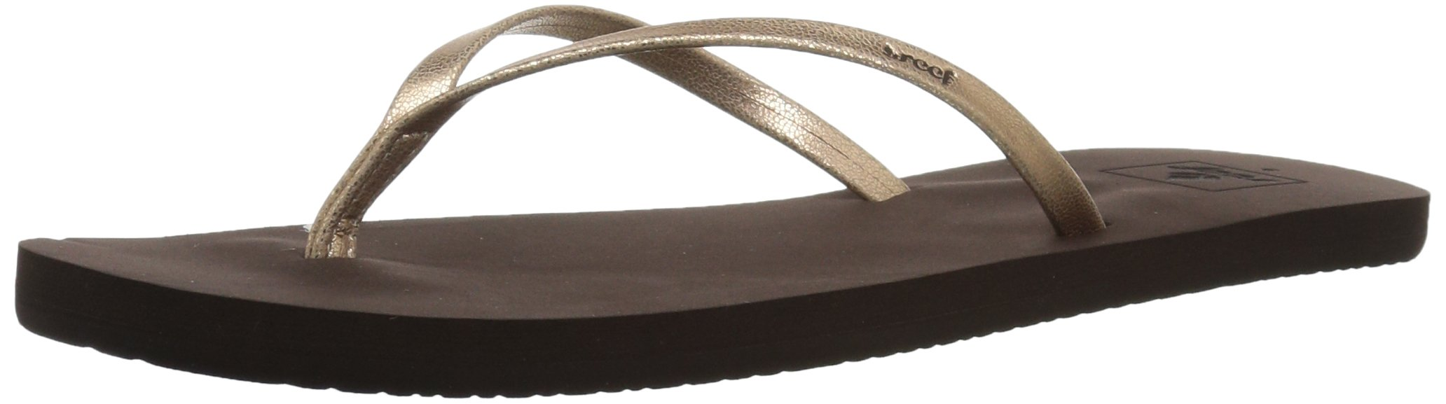 Reef Women's Bliss Nights Flip Flop, Rose Gold, 11 M US