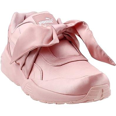 23442be968ef Puma Women s Bow Sneaker Fenty by Rihanna Silver Pink Silver Pink Silver  Pink Athletic