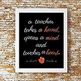 Teacher Touches a Heart Print - Teacher Gift, Teacher Decor, Teacher Print, Classroom decor, Classroom print, perfect teachers gift, Christmas Gift, Holiday Gift