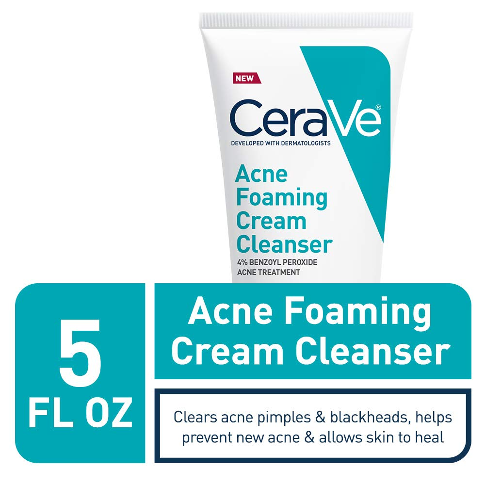 Amazon Com Cerave Acne Foaming Cream Cleanser Acne Treatment